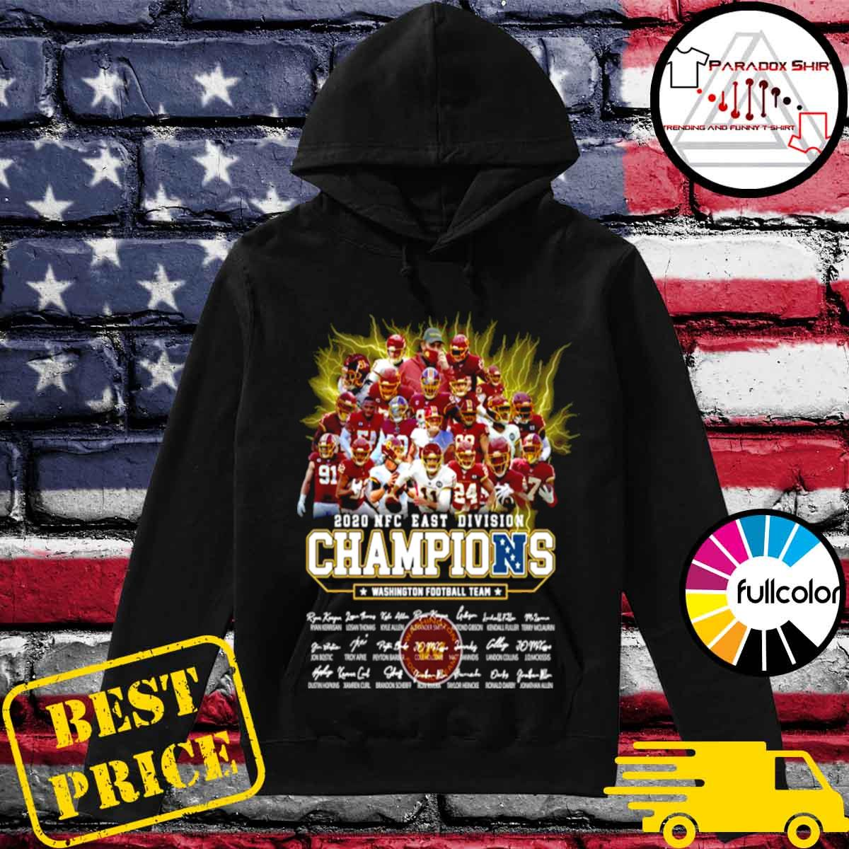 2020 Nfc East Division Champions Washington Football Team Signatures s Hoodie