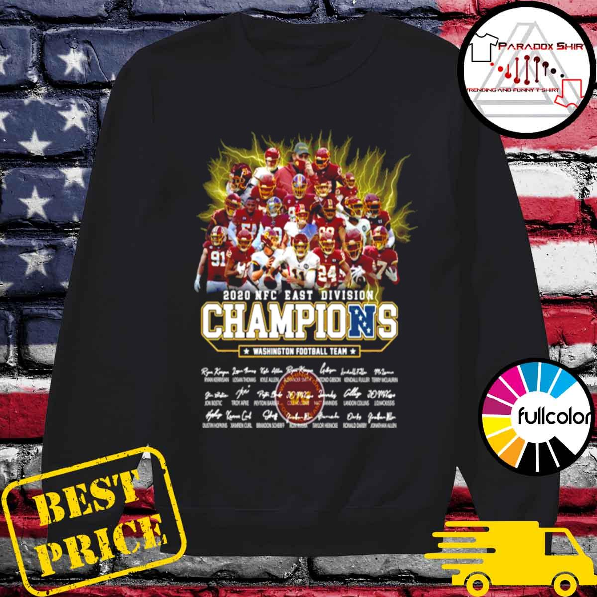 2020 Nfc East Division Champions Washington Football Team Signatures s Sweater