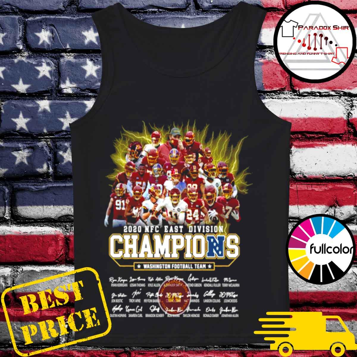 2020 Nfc East Division Champions Washington Football Team Signatures s Tank-top