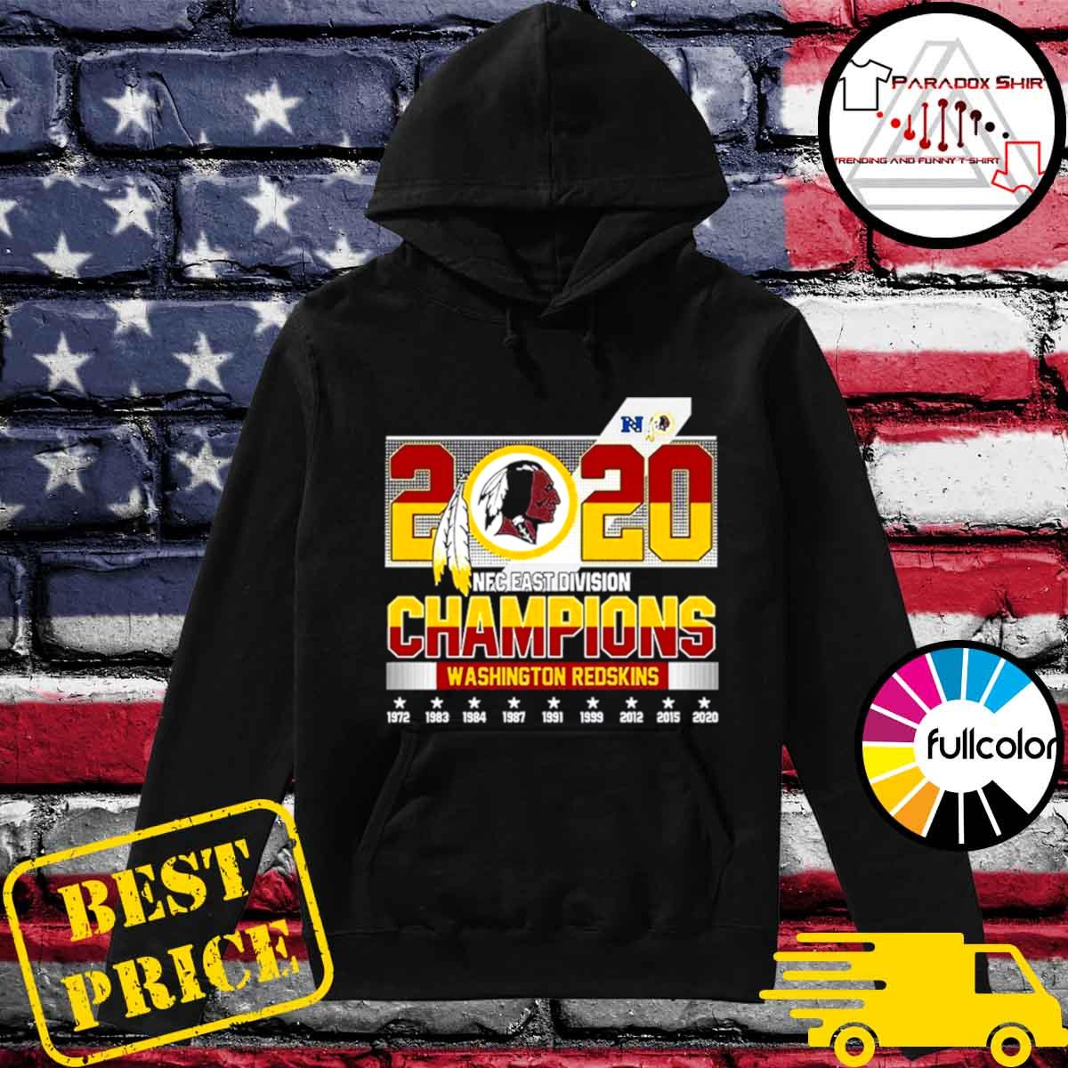 2020 NFC East Division Champions Washington Redskins s Hoodie