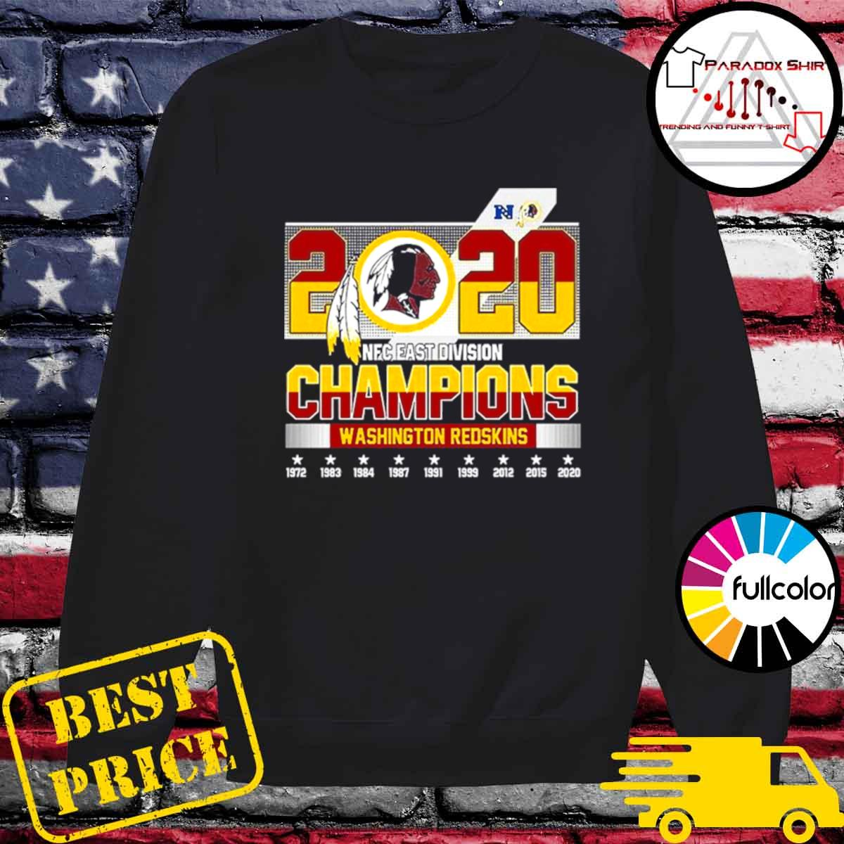 2020 NFC East Division Champions Washington Redskins s Sweater