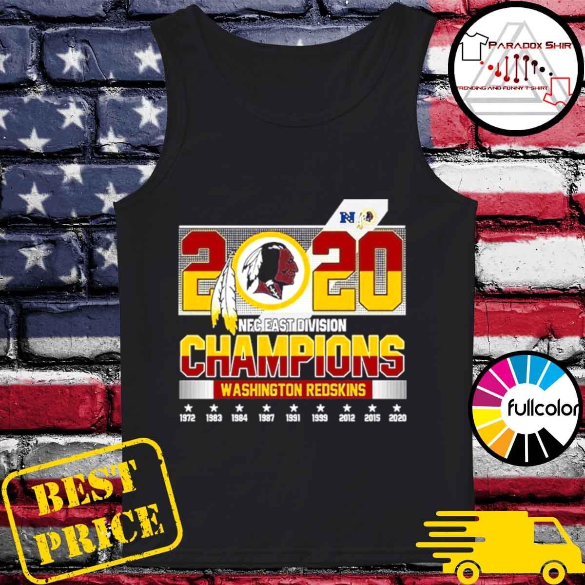 2020 NFC East Division Champions Washington Redskins s Tank-top