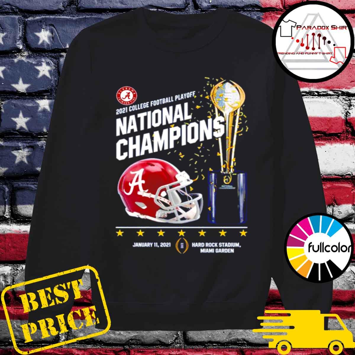 Alabama Crimson Tide 2021 college football playoff National Champions Alabama 52 Ohio State 24 s Sweater