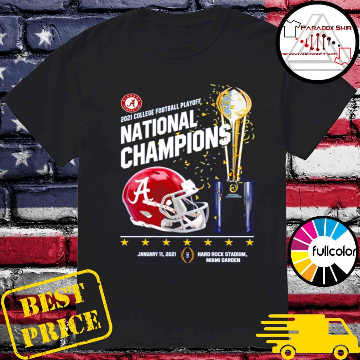 Alabama Crimson Tide 2021 college football playoff National Champions Alabama 52 Ohio State 24 shirt