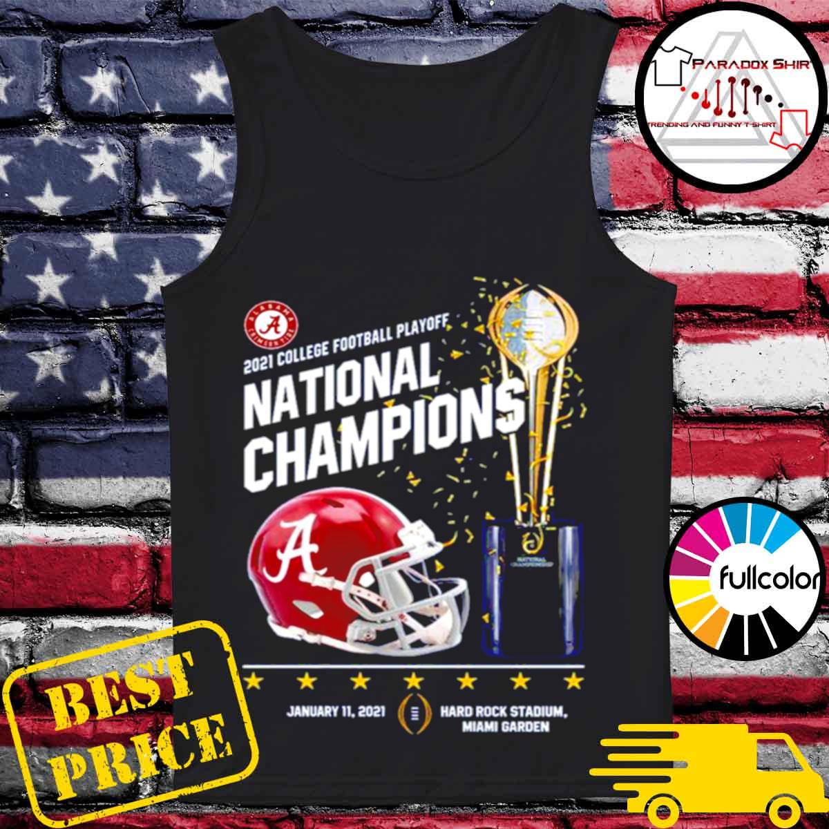 Alabama Crimson Tide 2021 college football playoff National Champions Alabama 52 Ohio State 24 s Tank-top