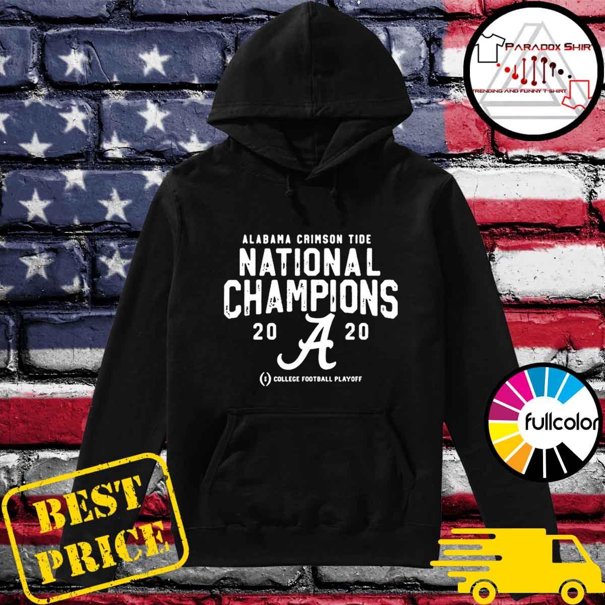 Alabama Crimson Tide College Football Playoff 2021 National Championship T-Shirt Hoodie