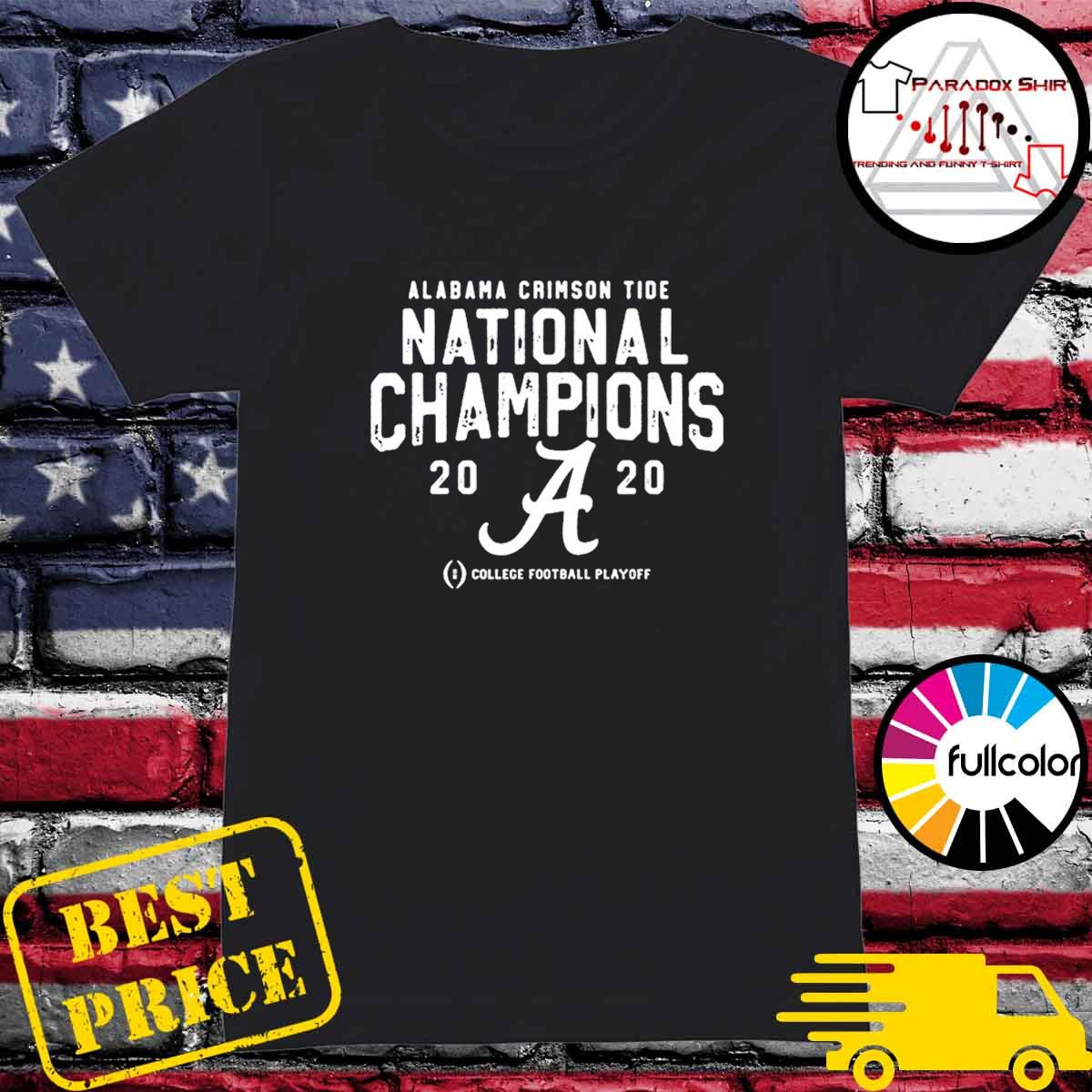Alabama Crimson Tide College Football Playoff 2021 National Championship T-Shirt Ladies