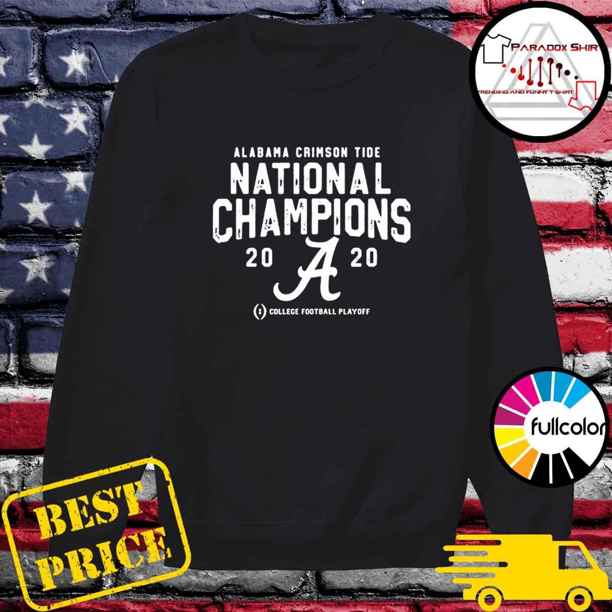 Alabama Crimson Tide College Football Playoff 2021 National Championship T-Shirt Sweater