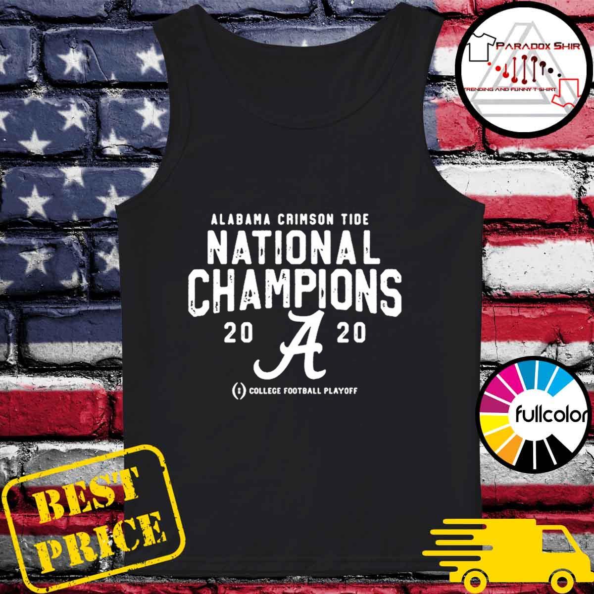 Alabama Crimson Tide College Football Playoff 2021 National Championship T-Shirt Tank-top