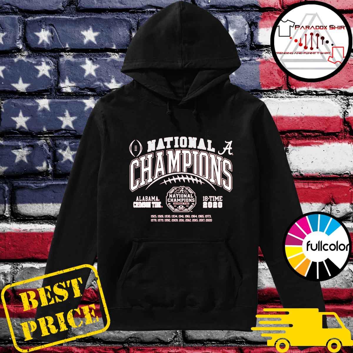 Alabama Crimson Tide National Champs 2020-2021 T-Shirt Hoodie