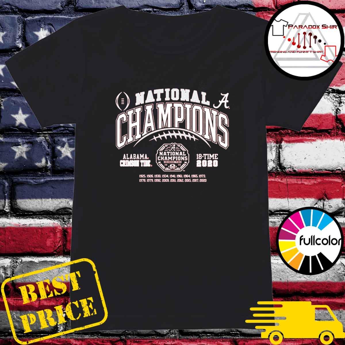 Alabama Crimson Tide National Champs 2020-2021 T-Shirt Ladies