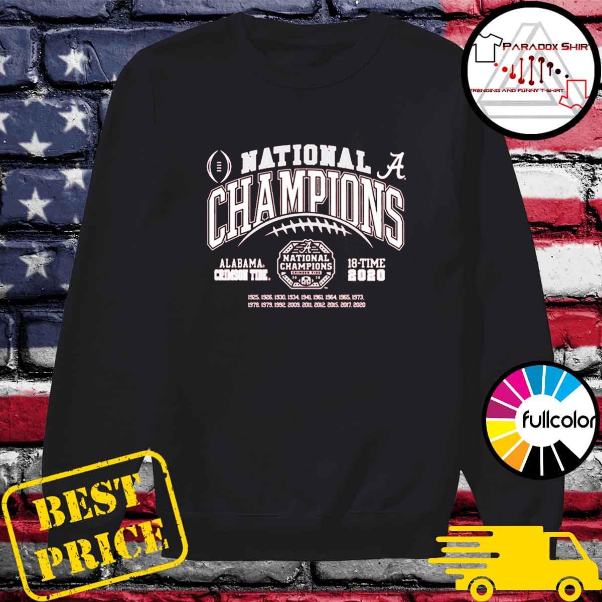 Alabama Crimson Tide National Champs 2020-2021 T-Shirt Sweater