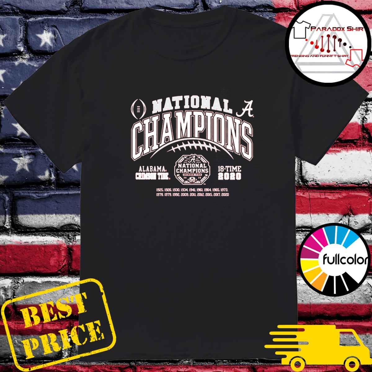 Alabama Crimson Tide National Champs 2020-2021 T-Shirt