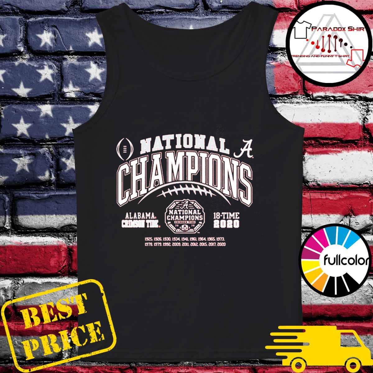 Alabama Crimson Tide National Champs 2020-2021 T-Shirt Tank-top