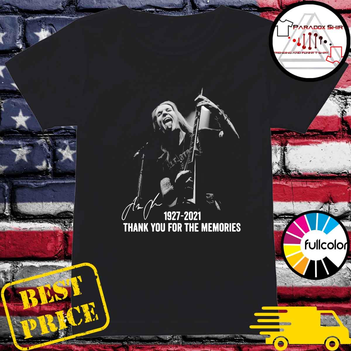 Alexi Laiho 1927 2021 Thank You For The Memories Signatures Shirt Ladies