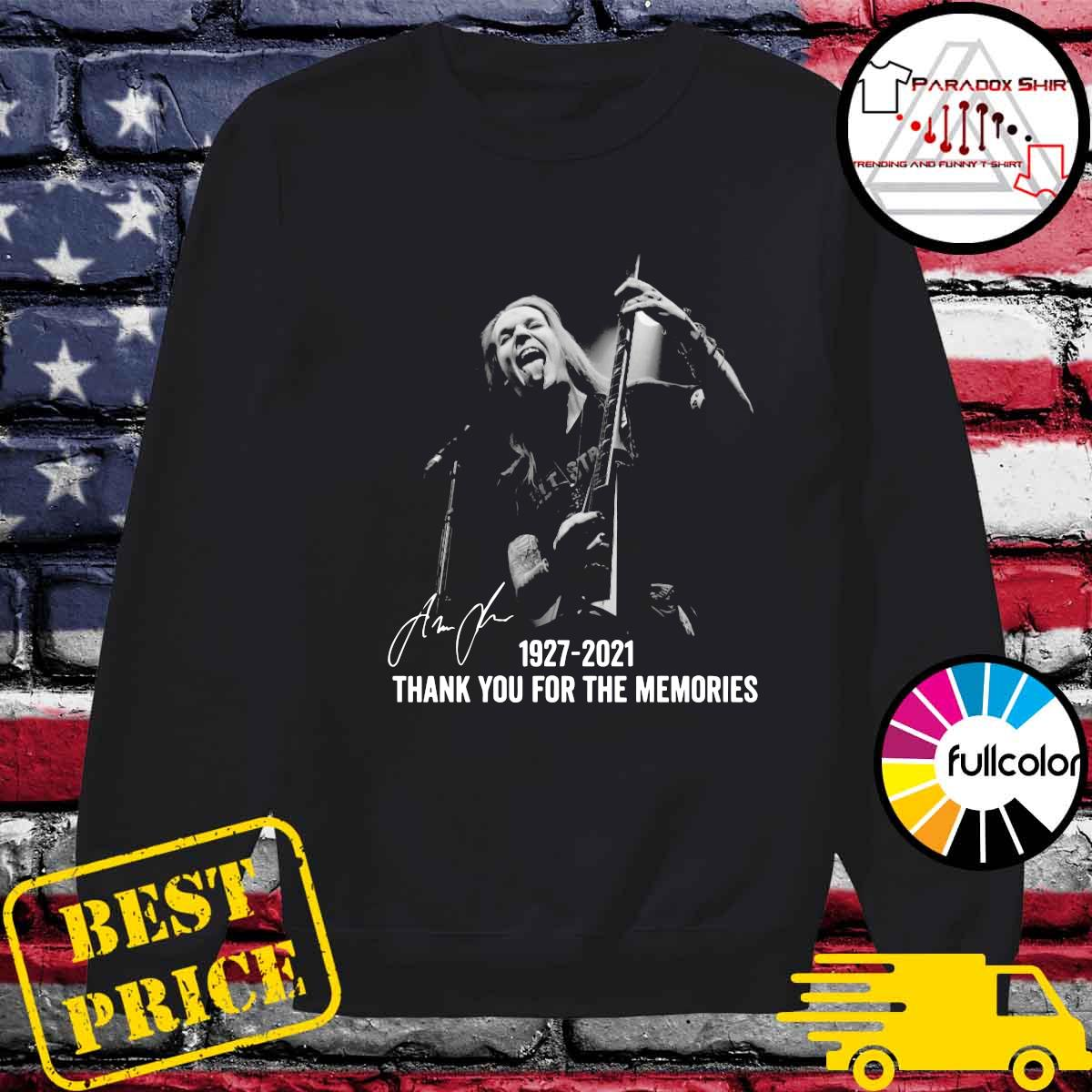 Alexi Laiho 1927 2021 Thank You For The Memories Signatures Shirt Sweater