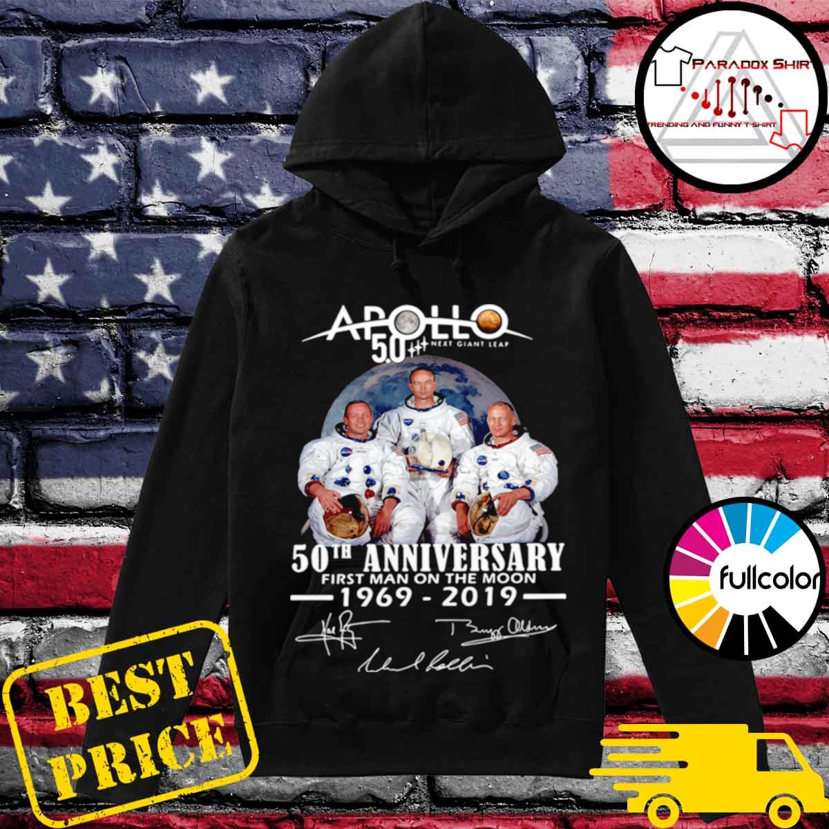 Apollo Next Giant Leap 52 Years Thank You For The Memories Signatures s Hoodie