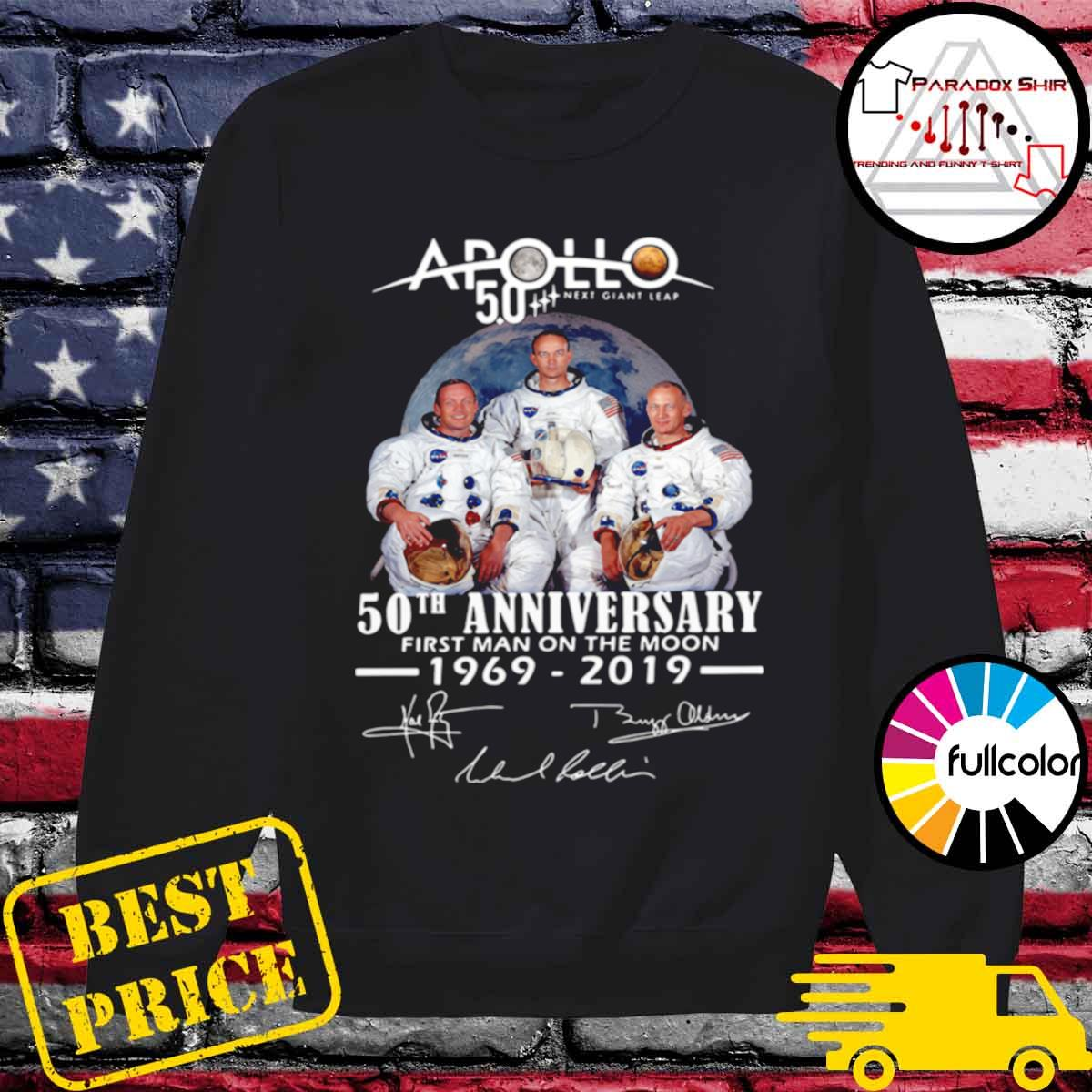 Apollo Next Giant Leap 52 Years Thank You For The Memories Signatures s Sweater