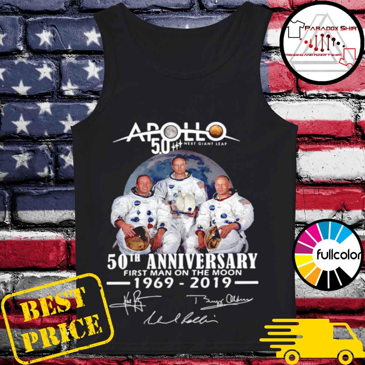 Apollo Next Giant Leap 52 Years Thank You For The Memories Signatures s Tank-top