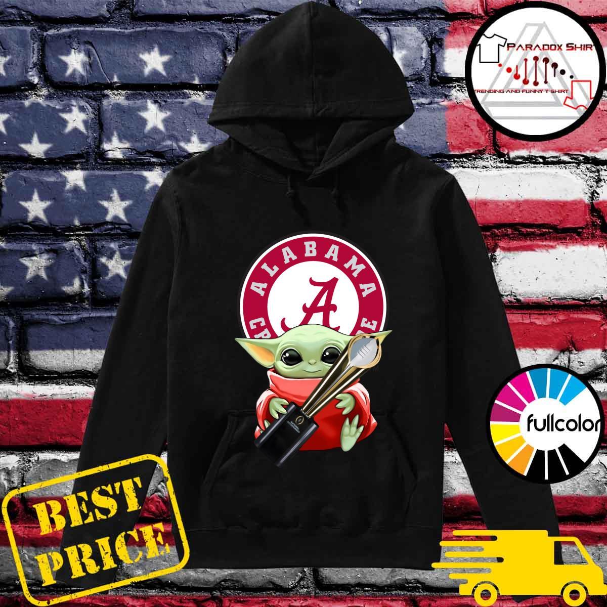 Baby Yoda Hug Cup Alabama Crimson Tide Shirt Hoodie