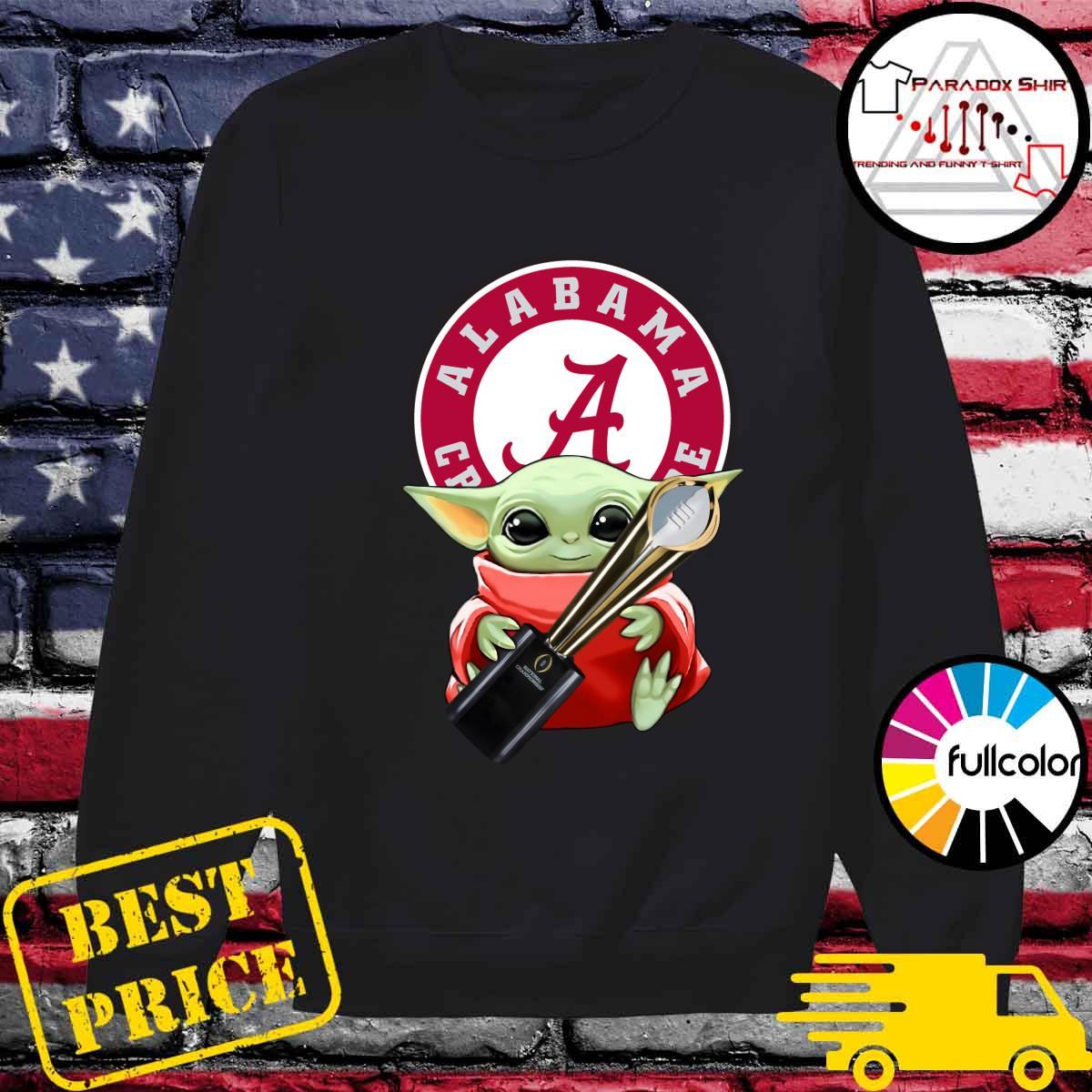 Baby Yoda Hug Cup Alabama Crimson Tide Shirt Sweater