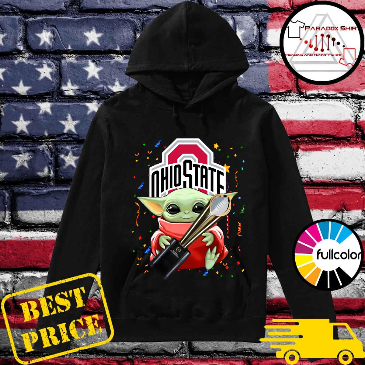 Baby Yoda Hug Cup Ohio State Buckeyes Shirt Hoodie