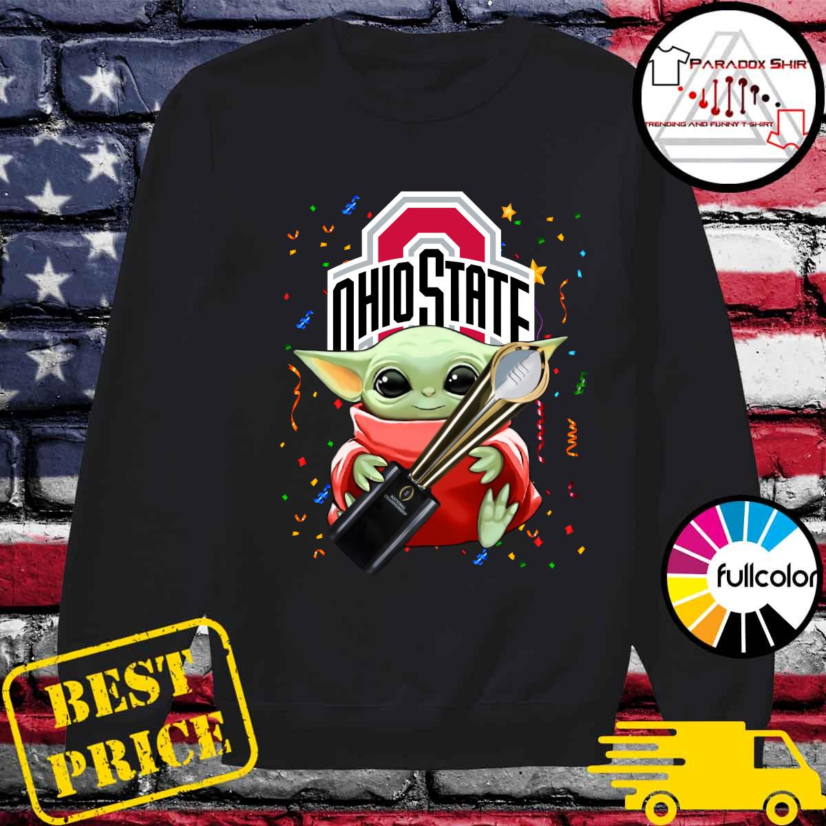 Baby Yoda Hug Cup Ohio State Buckeyes Shirt Sweater