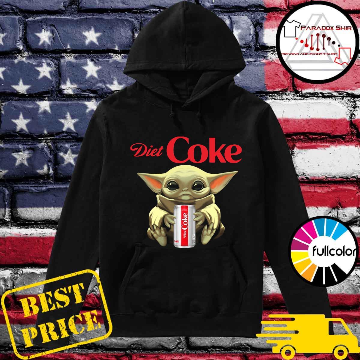 Baby Yoda Hug Diet Coke Shirt Hoodie