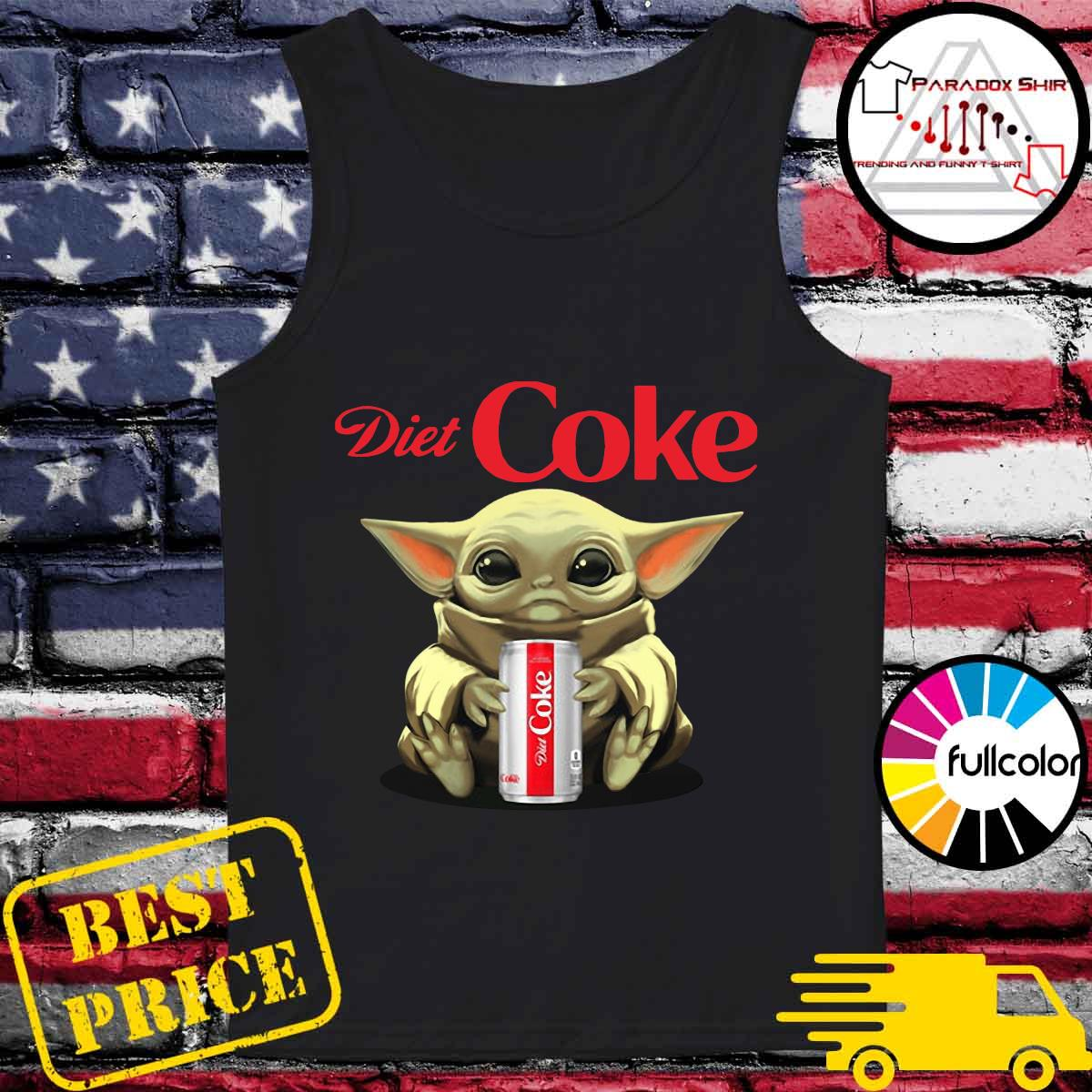 Baby Yoda Hug Diet Coke Shirt Tank-top