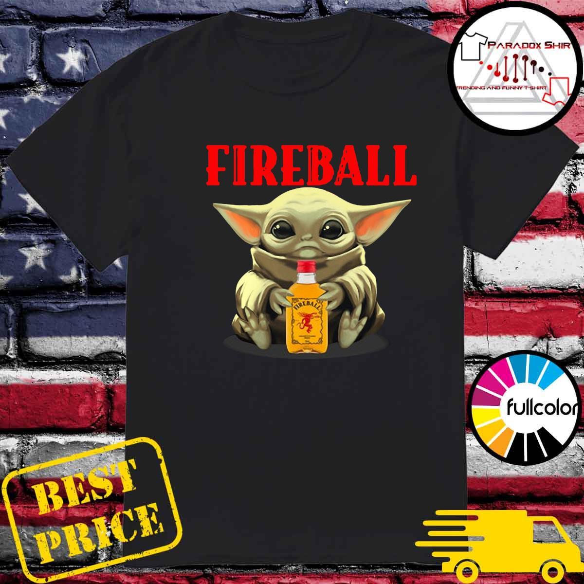 Baby Yoda Hug Fireball Shirt