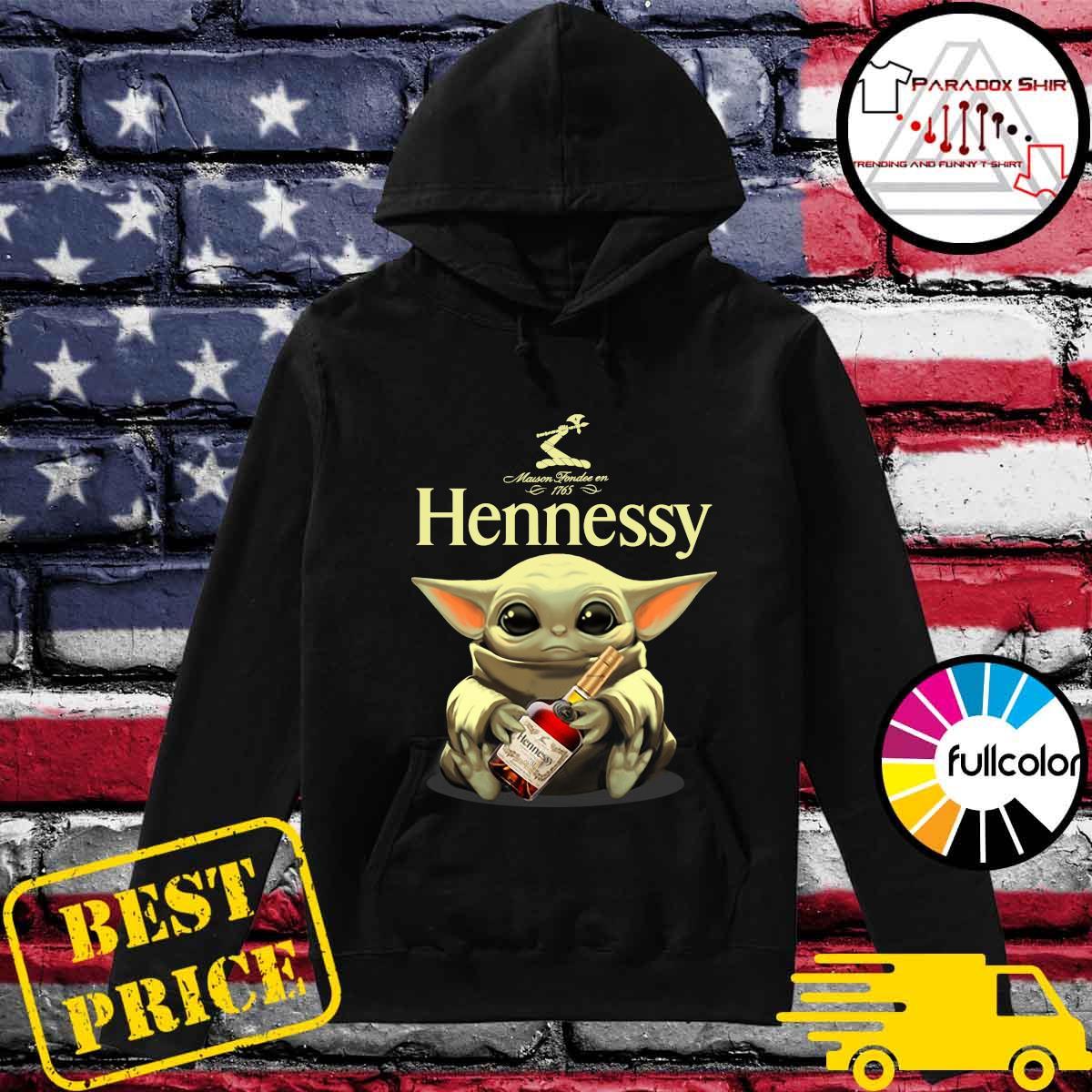 Baby Yoda Hug Hennessy Shirt Hoodie