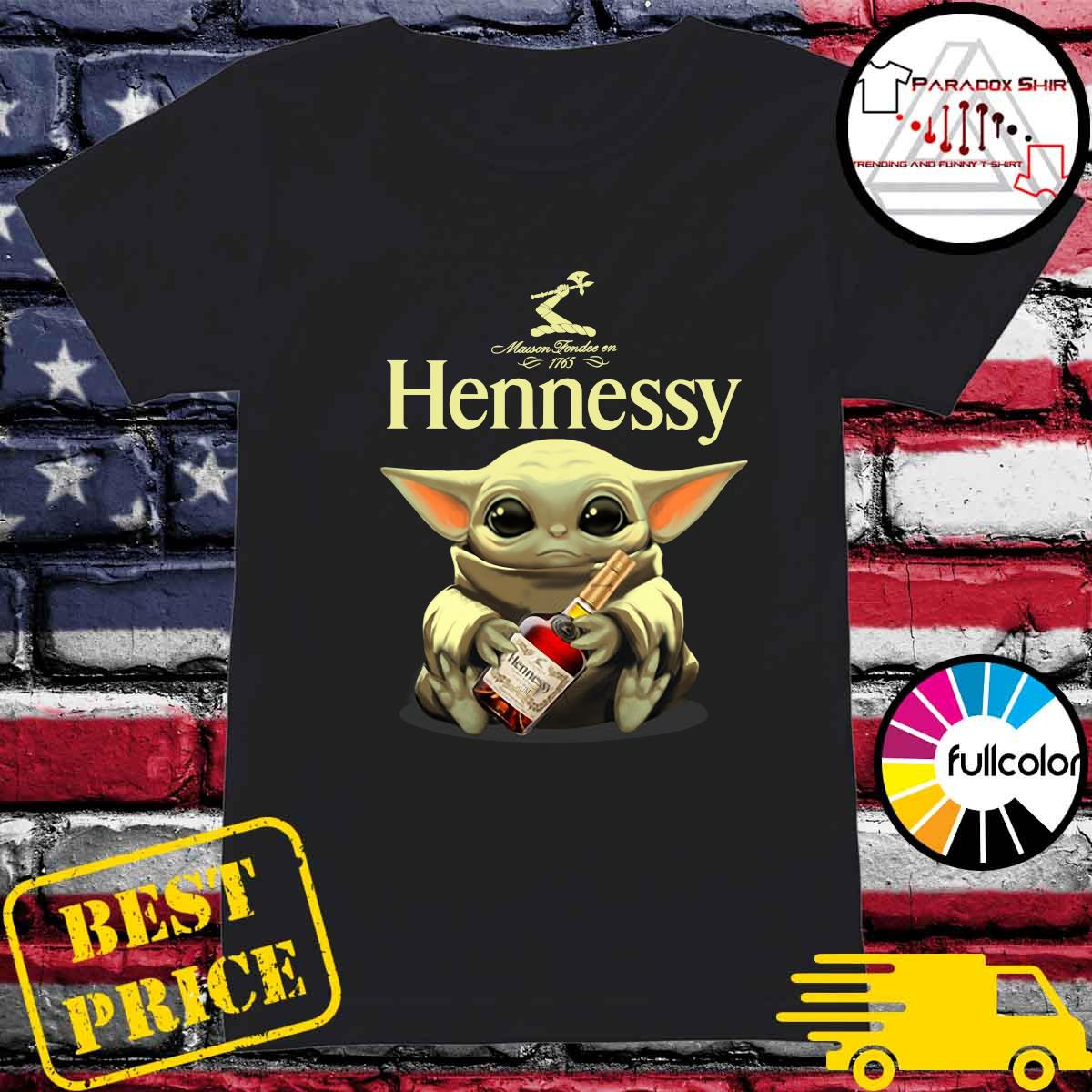 Baby Yoda Hug Hennessy Shirt Ladies