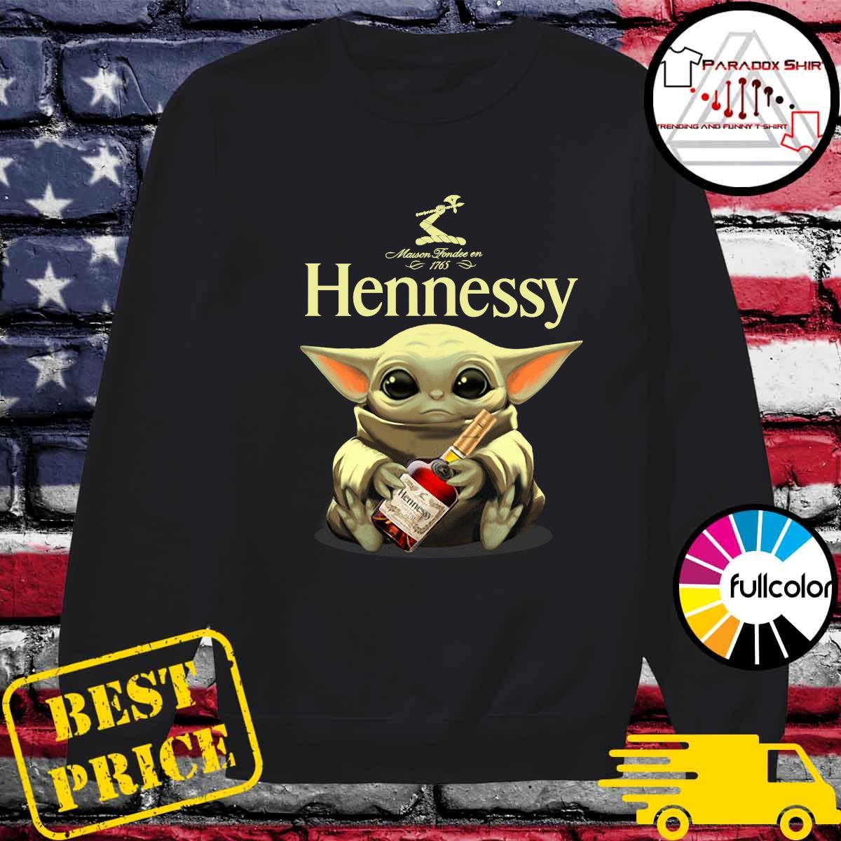Baby Yoda Hug Hennessy Shirt Sweater