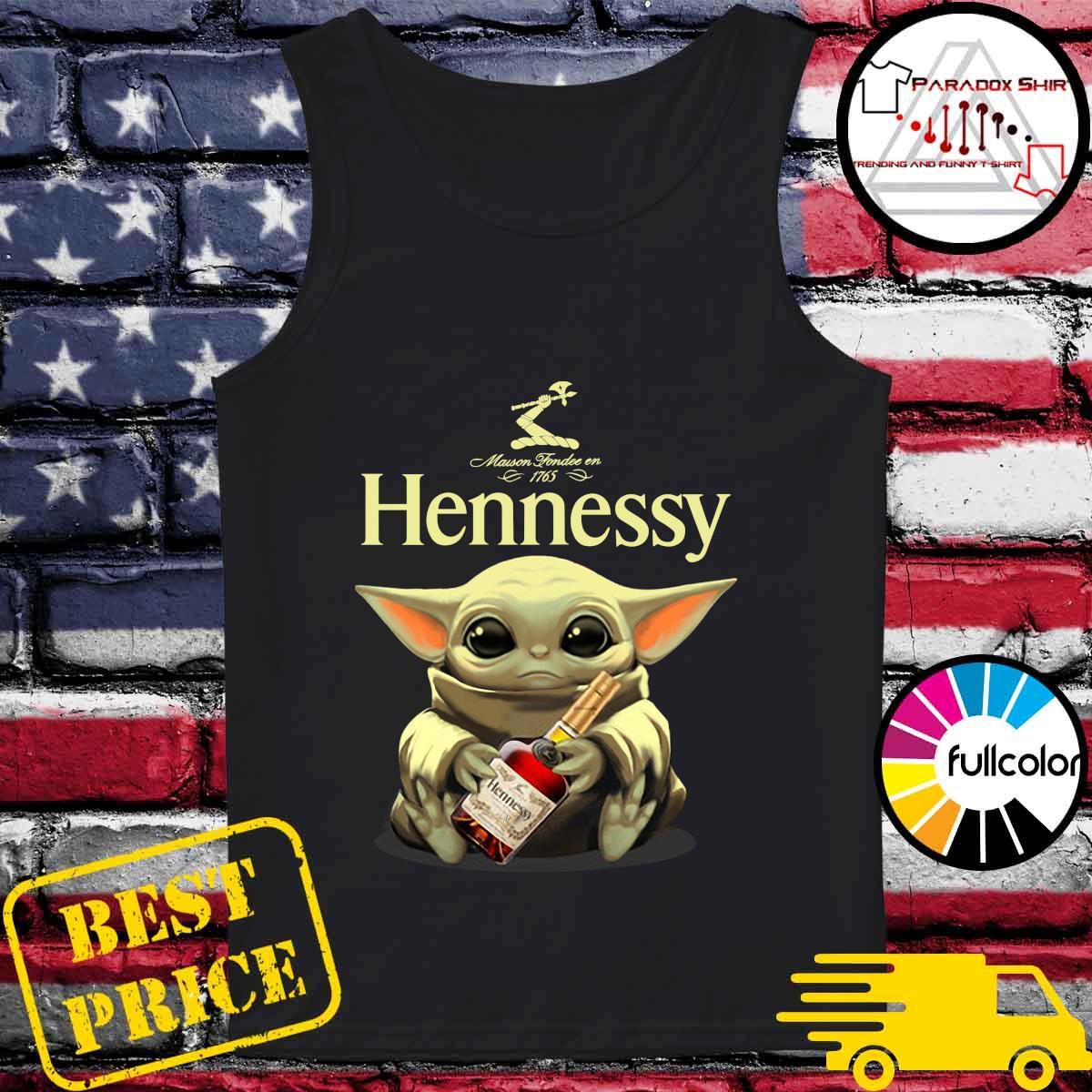 Baby Yoda Hug Hennessy Shirt Tank-top