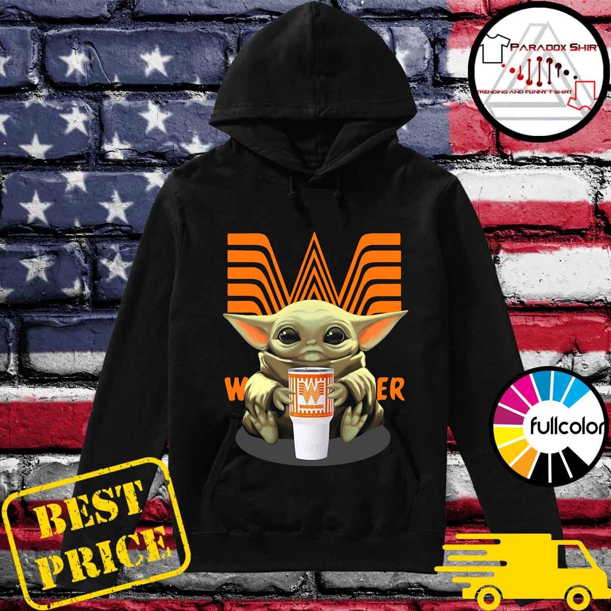 Baby Yoda Hug Whataburger Shirt Hoodie