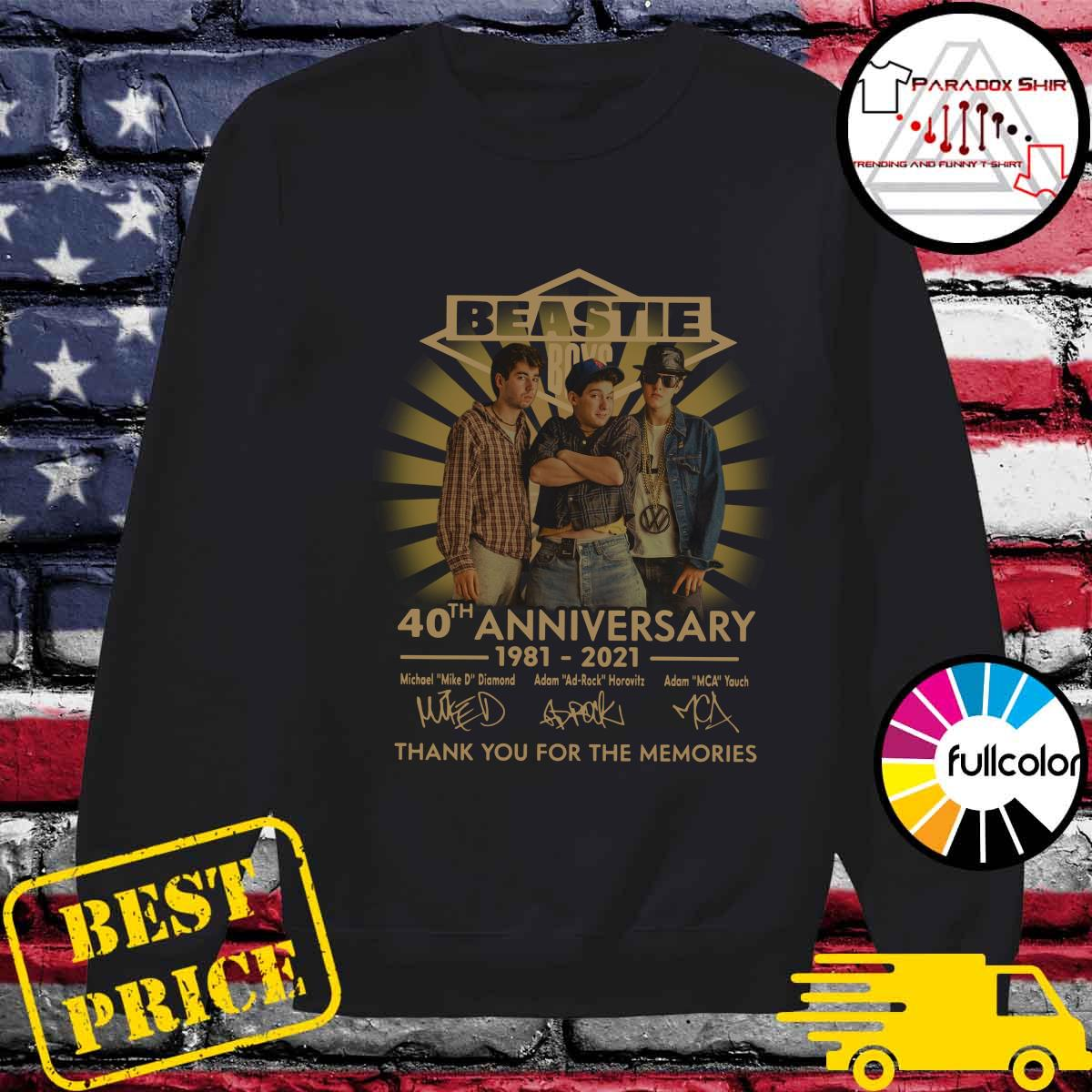 Beastie Boys 40th Anniversary 1981 2021 Thank You For The Memories Signatures Shirt Sweater