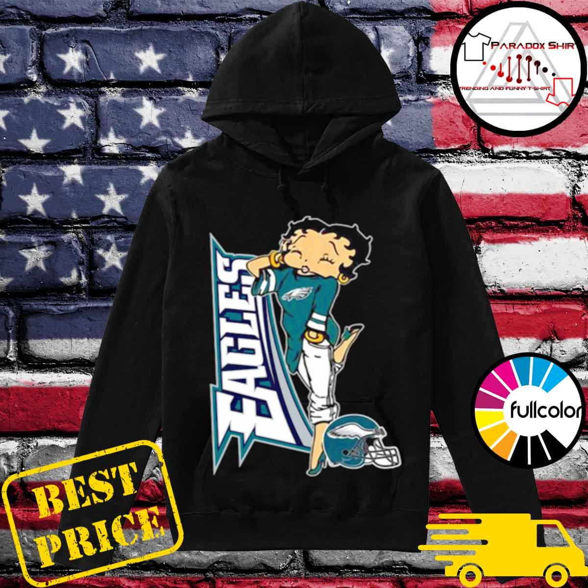 Betty Boop Philadelphia Eagles Football s Hoodie