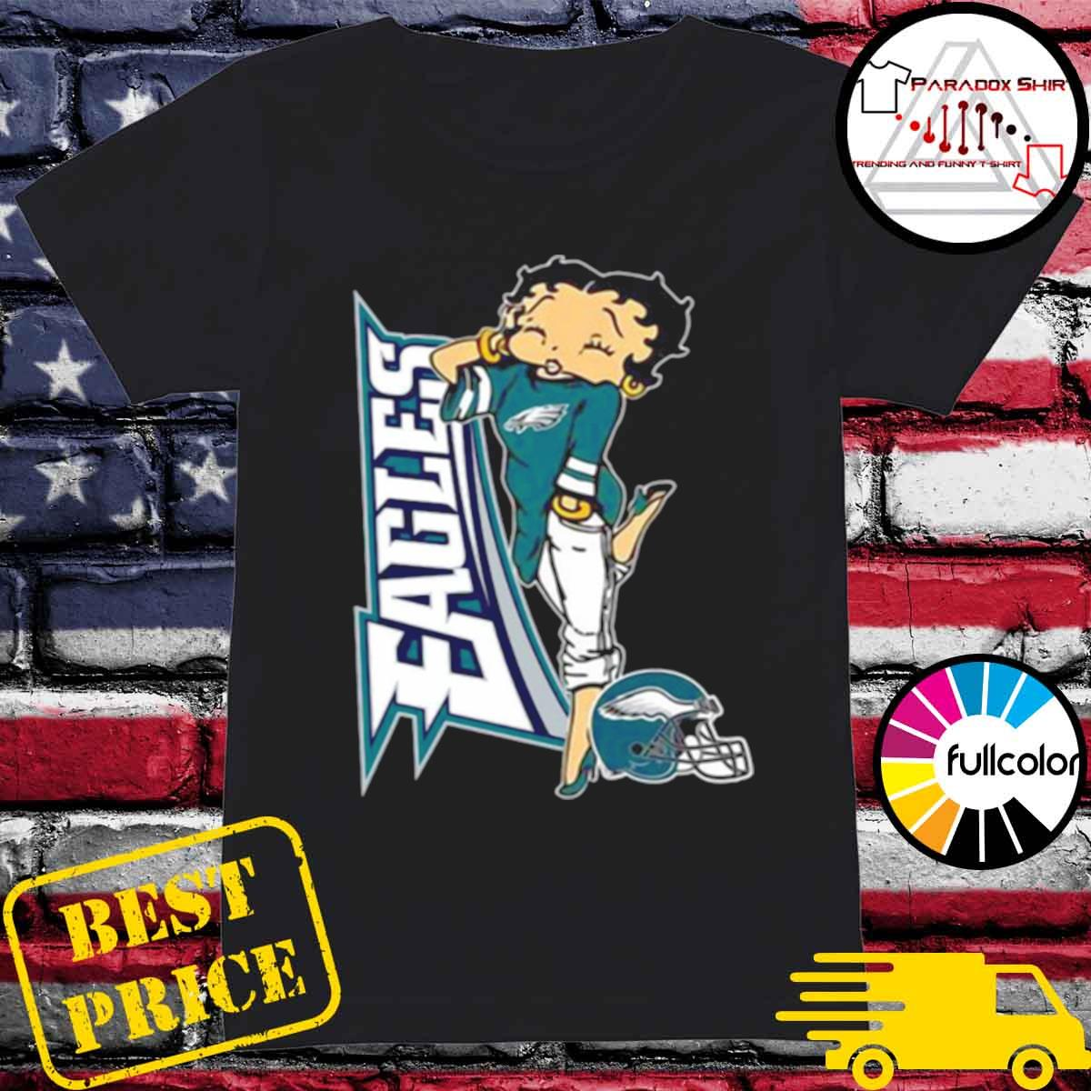 Betty Boop Philadelphia Eagles Football s Ladies