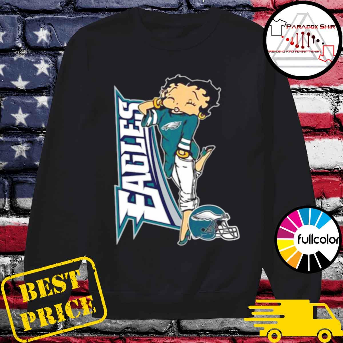 Betty Boop Philadelphia Eagles Football s Sweater