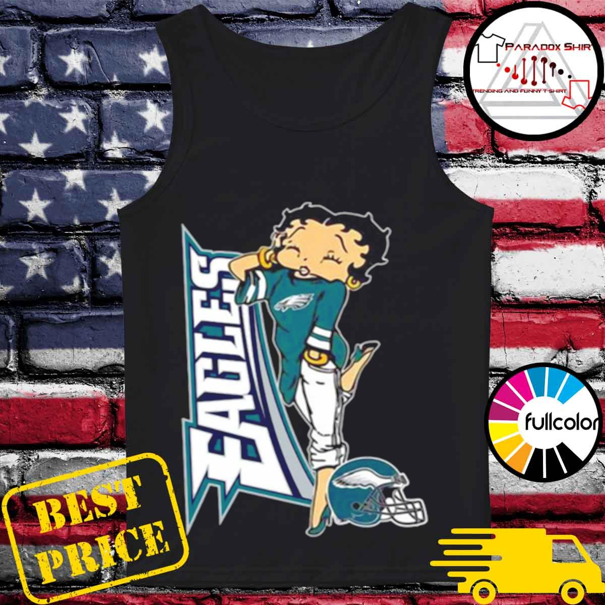 Betty Boop Philadelphia Eagles Football s Tank-top