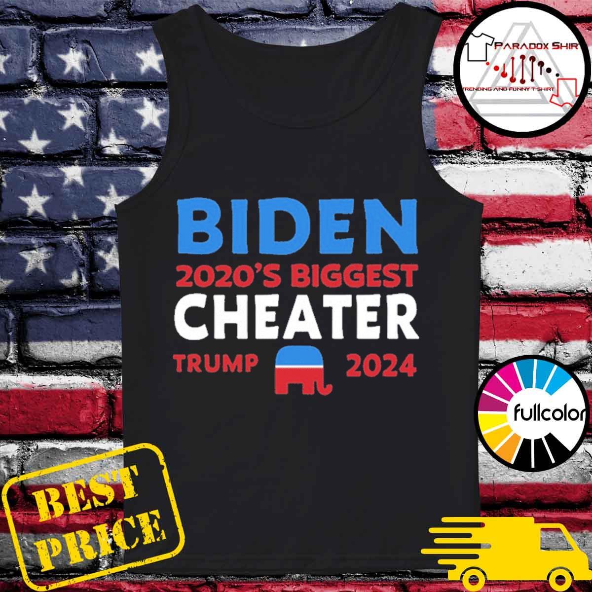 Biden 2020 Biggest Cheater Trump 2024 Official T-Shirt Tank-top