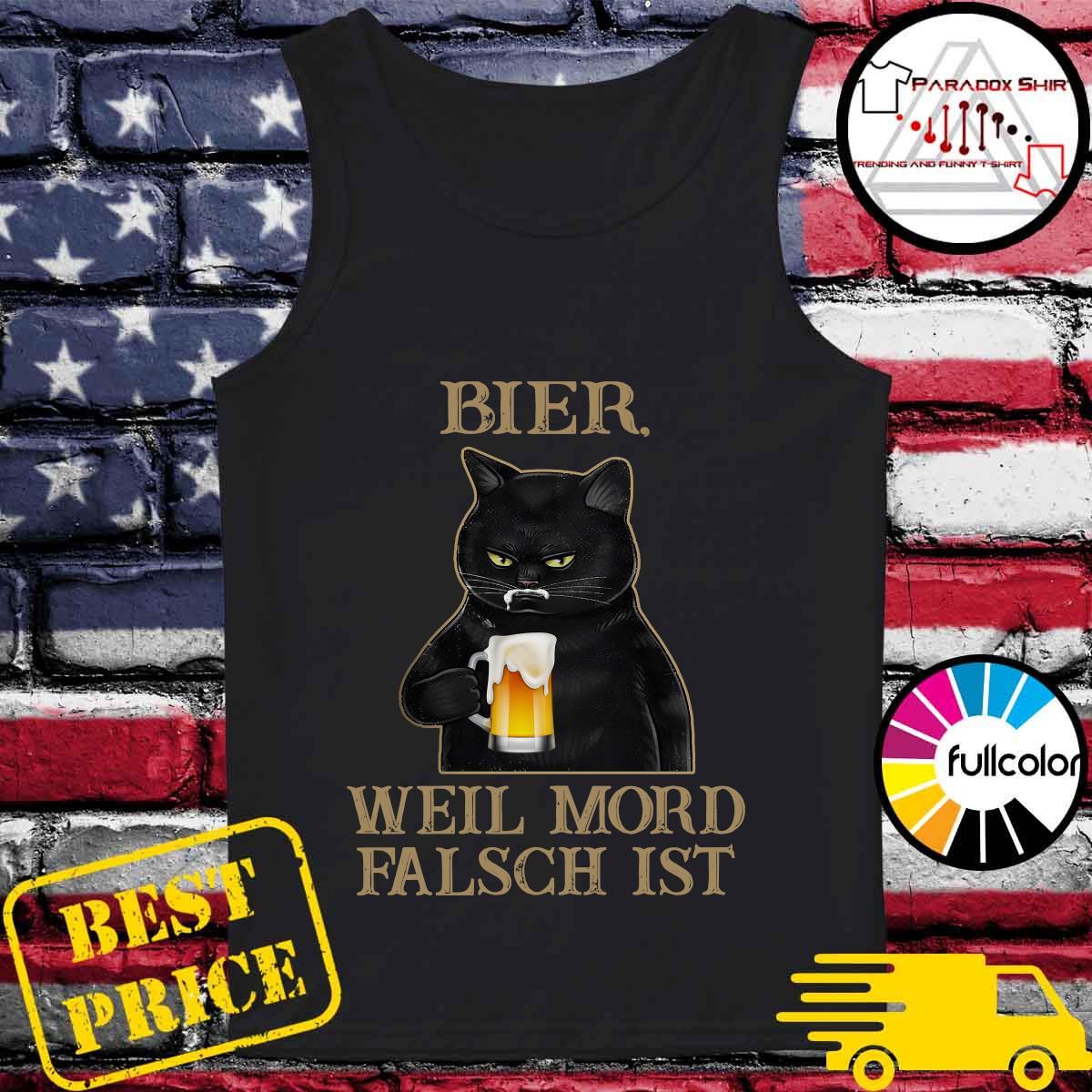 Black Cat Drink Beer Bier Well Mord Falsch Ist Shirt Tank-top