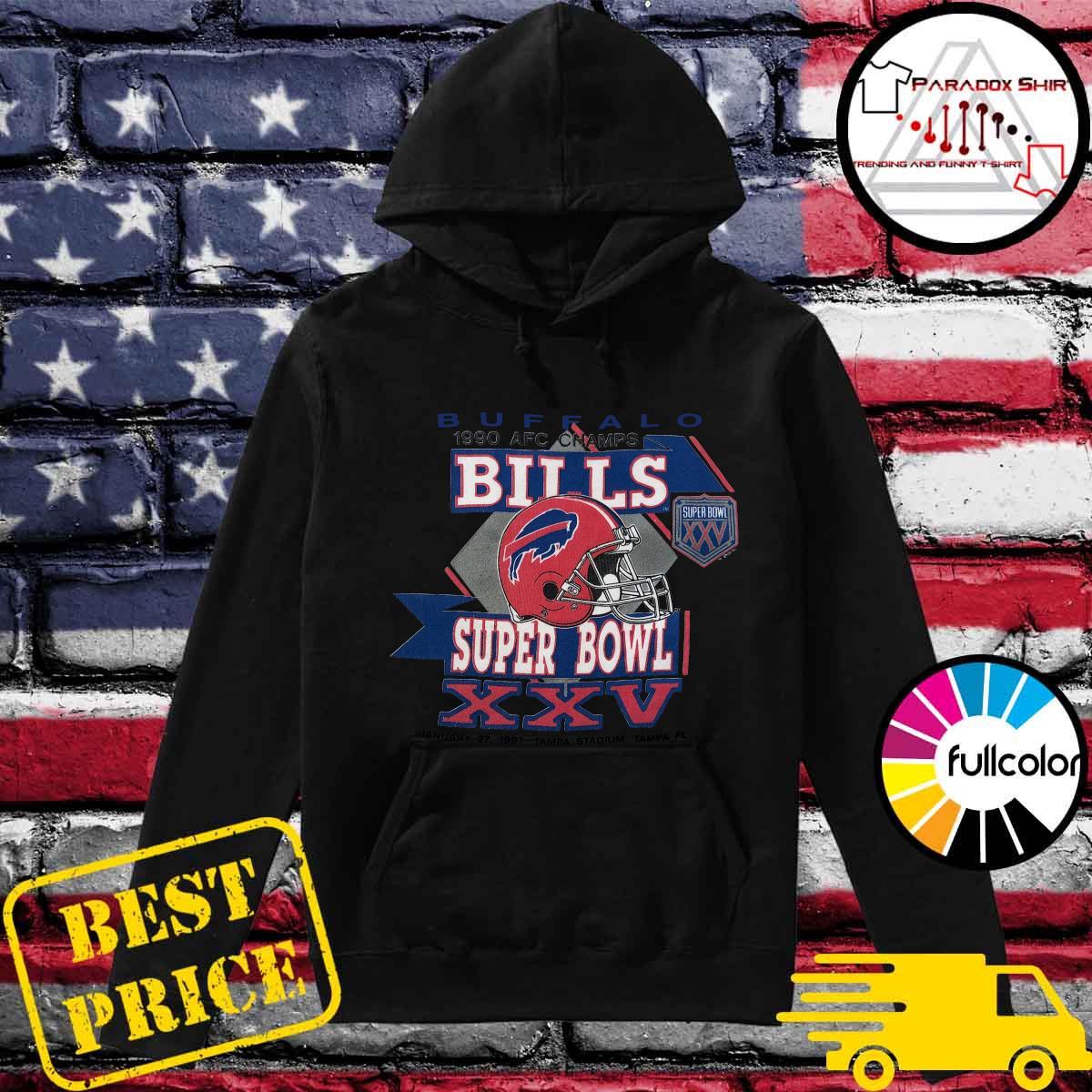 Buffalo Bills 1990 Afc Champs Super Bowl Xxv Tampa Stadium Tampa Shirt Hoodie