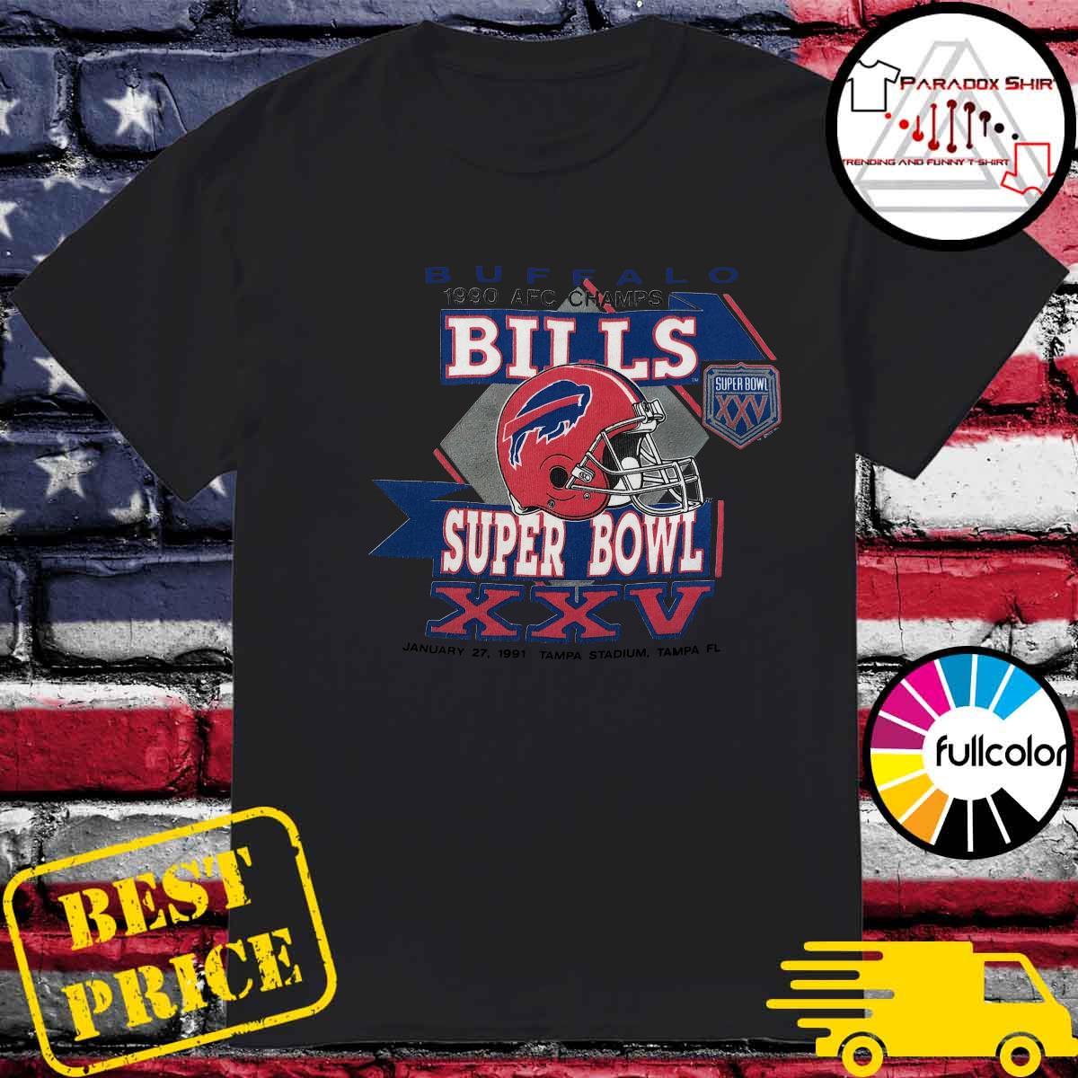 Buffalo Bills 1990 Afc Champs Super Bowl Xxv Tampa Stadium Tampa Shirt