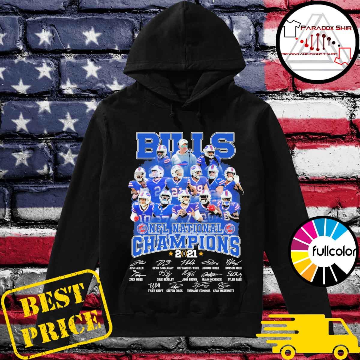Buffalo Bills NFL National Champions 2021 team signatures s Hoodie