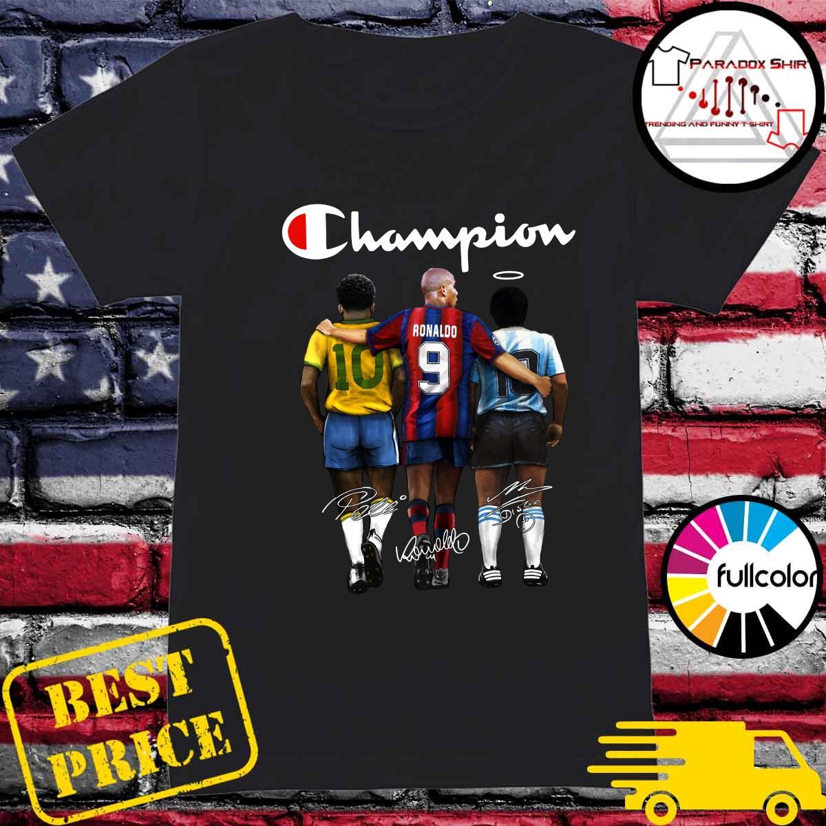 Champion 10 Pelé Ronaldo 9 Diego Maradona 10 Signatures Shirt Ladies