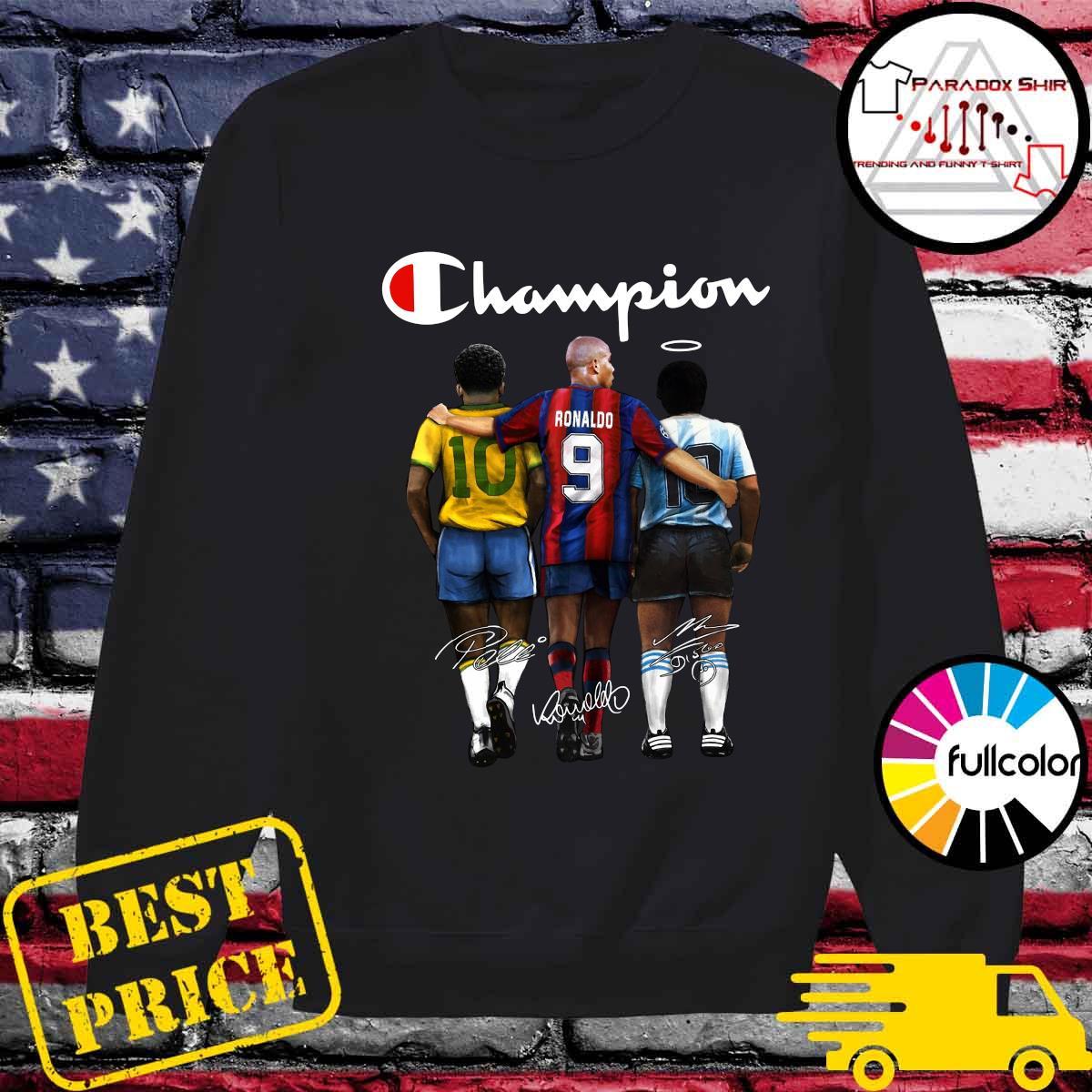 Champion 10 Pelé Ronaldo 9 Diego Maradona 10 Signatures Shirt Sweater