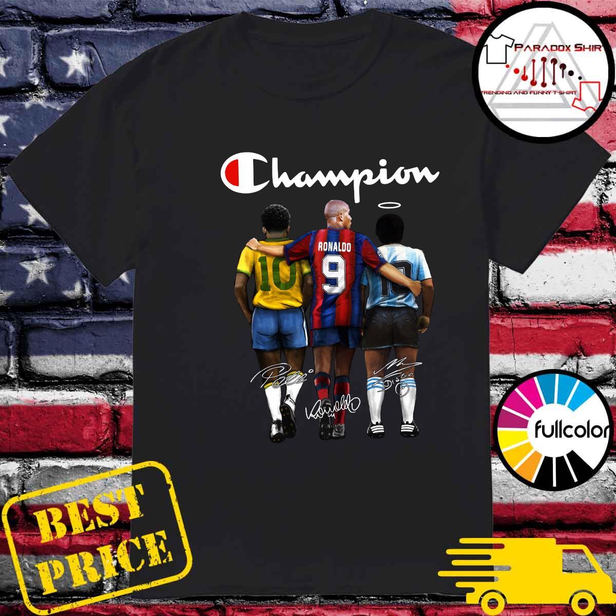Champion 10 Pelé Ronaldo 9 Diego Maradona 10 Signatures Shirt