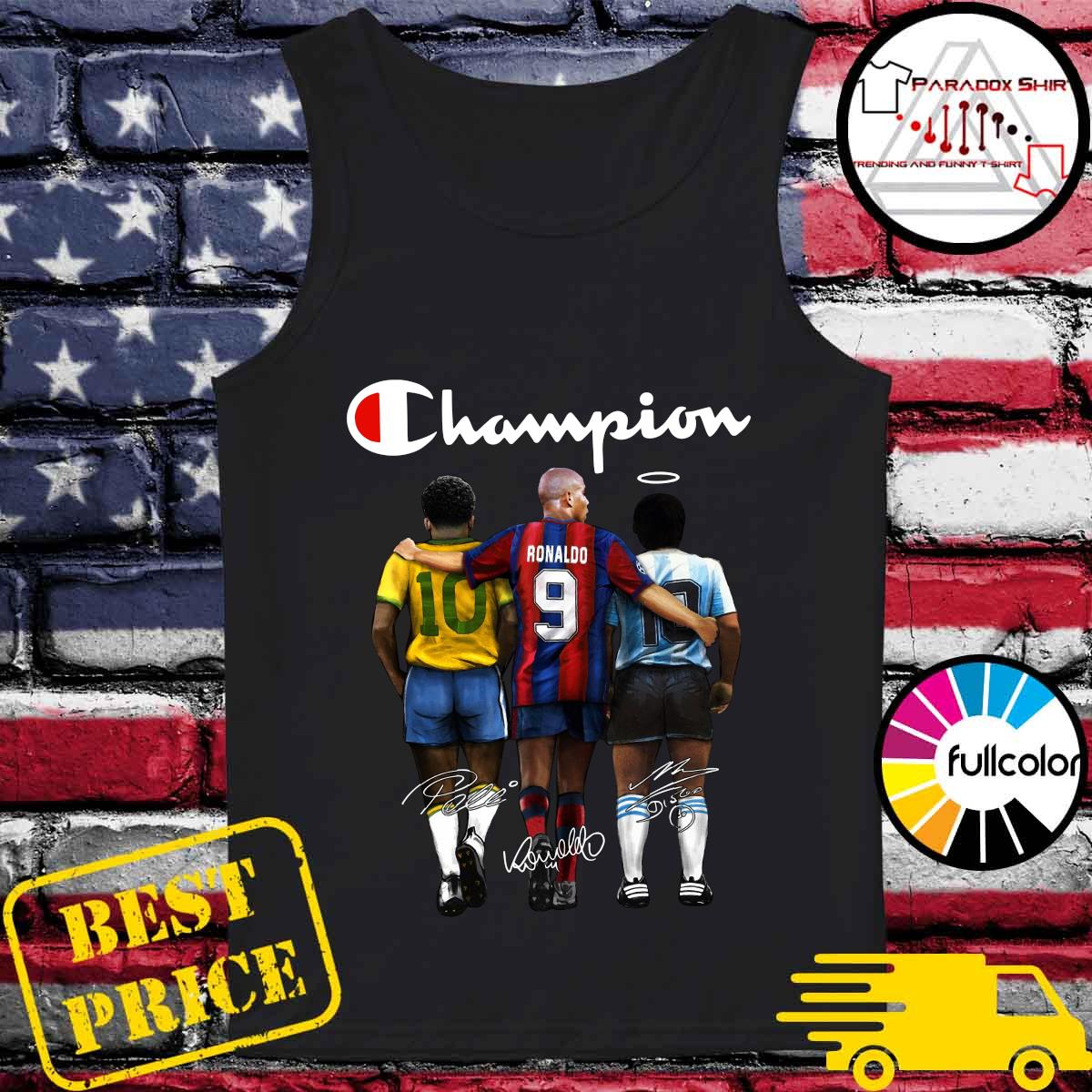 Champion 10 Pelé Ronaldo 9 Diego Maradona 10 Signatures Shirt Tank-top