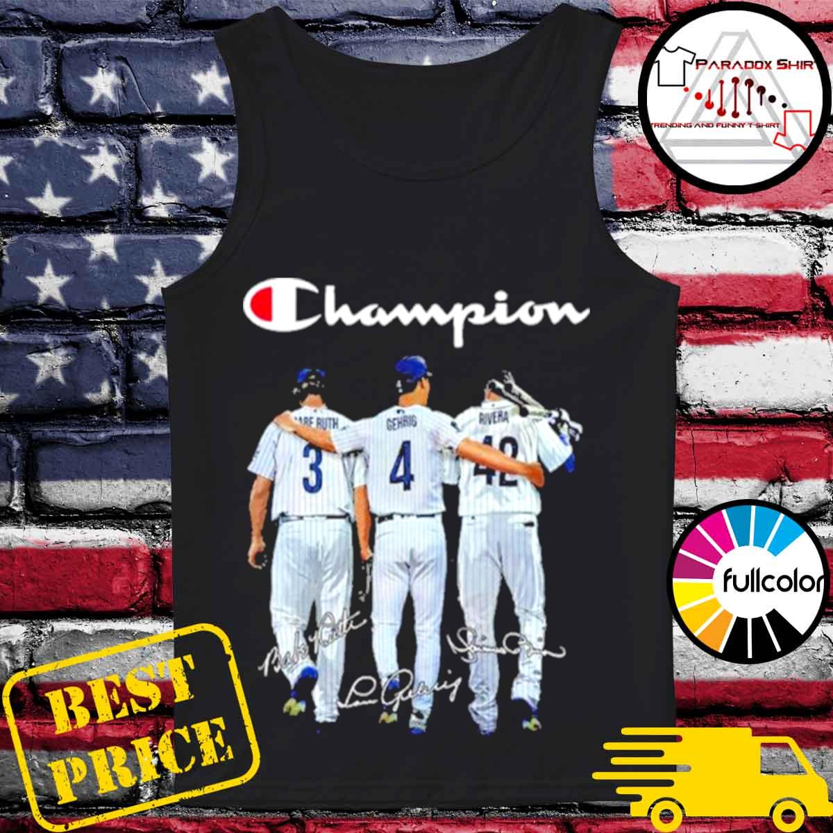 Champion babe ruth and gehrig and rivera s Tank-top